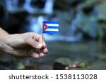 National Flag Of Cuba On Wooden ...