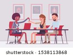 mortgage for a family in a bank.... | Shutterstock .eps vector #1538113868