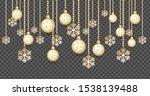 golden christmas balls...   Shutterstock .eps vector #1538139488