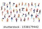 dancing crowd people flat... | Shutterstock .eps vector #1538179442