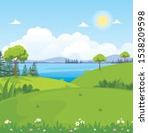 Beautiful Landscape Vector With ...