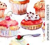 Seamless Pattern With Cake ...