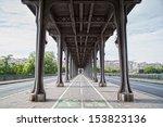 bir hakeim bridge  paris  france | Shutterstock . vector #153823136