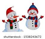 watercolor christmas elements   ... | Shutterstock . vector #1538243672