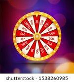 wheel of fortune lottery luck...   Shutterstock .eps vector #1538260985