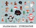 christmas stickers badges... | Shutterstock .eps vector #1538266568