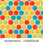 multicolored hexagon geometric... | Shutterstock .eps vector #153830318