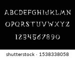 3d crisp sharp vector alphabet...   Shutterstock .eps vector #1538338058