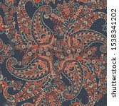 seamless paisley pattern in... | Shutterstock .eps vector #1538341202