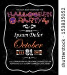halloween party invitation card ... | Shutterstock .eps vector #153835052