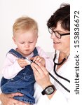doctor with stethoscope fun... | Shutterstock . vector #153836672