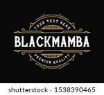 vintage frame template for logo ... | Shutterstock .eps vector #1538390465