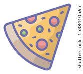 slice of pizza  fast food icon...   Shutterstock .eps vector #1538410565