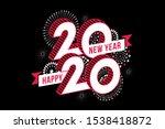 happy new year 2020. vector...   Shutterstock .eps vector #1538418872