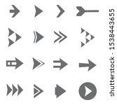 arrow icon vector set for web...   Shutterstock .eps vector #1538443655