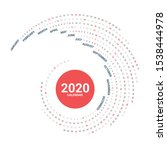 calendar 2020 round spiral... | Shutterstock .eps vector #1538444978