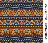 ethnic seamless pattern with... | Shutterstock .eps vector #1538454755
