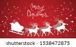 christmas paper reindeers and... | Shutterstock .eps vector #1538472875