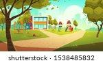 kindergarten kids playground ... | Shutterstock .eps vector #1538485832