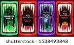 set creepy halloween party...   Shutterstock .eps vector #1538493848