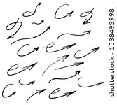 collection of black hand drawn...   Shutterstock .eps vector #1538493998