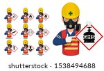 set of industrial worker is... | Shutterstock .eps vector #1538494688
