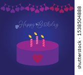 flat vektor happy birthday... | Shutterstock .eps vector #1538504888