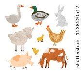 set of farm animals and...   Shutterstock .eps vector #1538520512