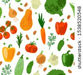 seamless pattern with fresh eco ... | Shutterstock .eps vector #1538520548
