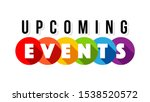 upcoming events isolated on... | Shutterstock .eps vector #1538520572