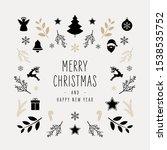 christmas icon elements border...   Shutterstock .eps vector #1538535752