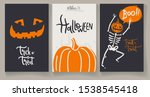 greeting halloweens cards with... | Shutterstock .eps vector #1538545418