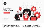 presentation slide template or... | Shutterstock .eps vector #1538589968