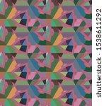 seamless geometric ornamental... | Shutterstock .eps vector #1538611292