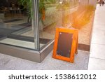 blank restaurant blackboard on... | Shutterstock . vector #1538612012