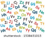 pattern of colored letters on a ... | Shutterstock .eps vector #1538651015