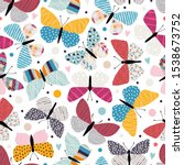seamless pattern with... | Shutterstock .eps vector #1538673752