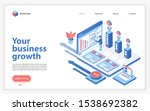 your business growth landing... | Shutterstock .eps vector #1538692382