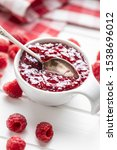 Sweet Raspberry Jam In Bowl And ...