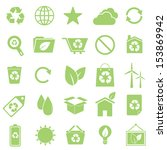ecology icons on white...   Shutterstock .eps vector #153869942