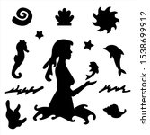 Silhouette Of A Girl In...
