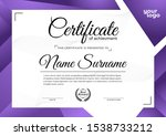 modern certificate design...   Shutterstock .eps vector #1538733212