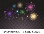 bright colorful fireworks... | Shutterstock .eps vector #1538756528