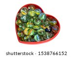 Brightly Colored Marbles In A...