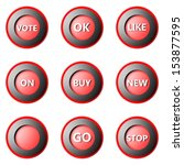 collection of round buttons... | Shutterstock . vector #153877595