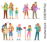tourist vector traveling people ... | Shutterstock .eps vector #1538789762