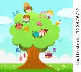 learning tree   Shutterstock .eps vector #153879722