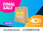40 percent off final sale... | Shutterstock .eps vector #1538885438