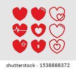 hearts vector illustrations set....