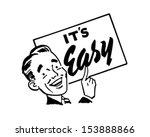 Sign Man - Retro Clip Art Illustration   Shutterstock vector #153888866